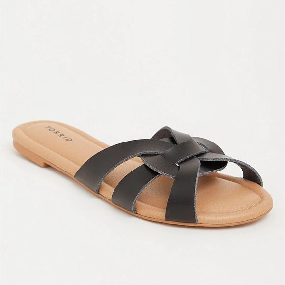 9 95 12 Wide Sandals Black Strappy